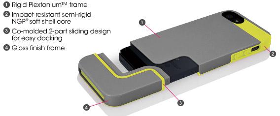Incipio Edge Pro iPhone 5 case Feature